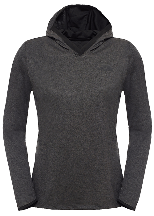North Face – W Reactor Hoodie – Dark Grey