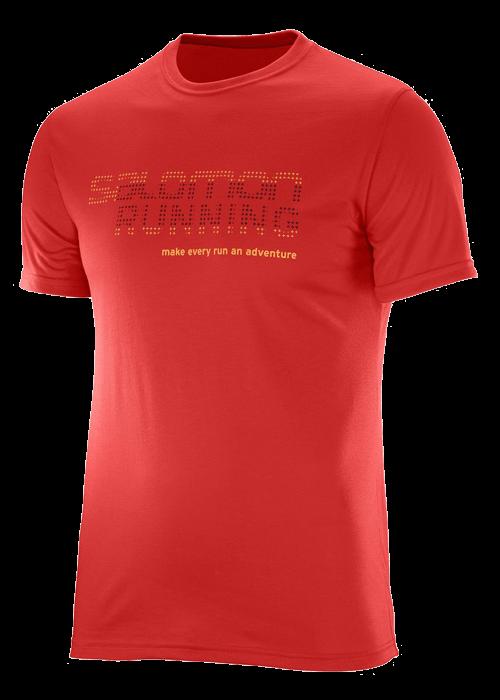 Salomon – Running Graphic Tee M – Red