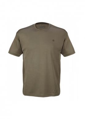 Gamo - Short Slv Honeycome T-Shirt - Khaki