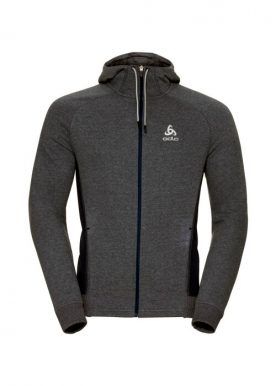 Odlo - Hoody Midlayer Full Zip Techstyle - Dark Grey