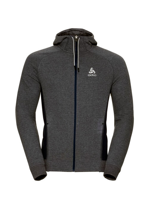 Odlo – Hoody Midlayer Full Zip Techstyle – Dark Grey