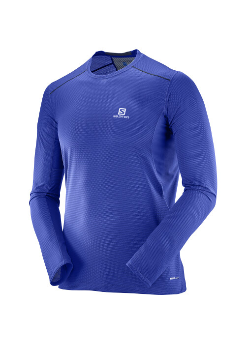 Salomon – Trail Runner Ls Tee M – Blue